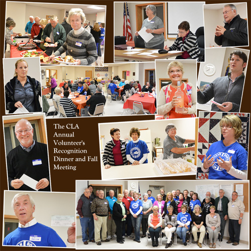 The CLA Annual Volunteer's Recognition Dinner and Fall Meeting