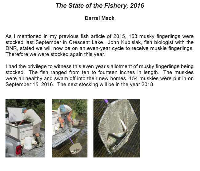 The State of the Fishery - 2016